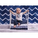 Wooden bed with frills - MARINE
