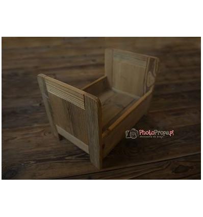 newborn wooden prop baby bed vintage