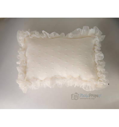WHITE Tulle pillow size nb