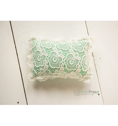 Mint pillow with silk