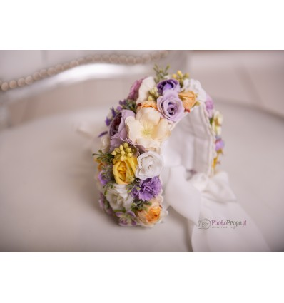 Floral bonnet - EMMA NB